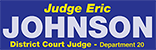Re-Elect Judge Eric Johnson Logo